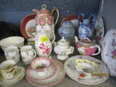 Continental porcelain teaware to include late 19th century/early 20th century cups and saucers