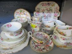 Tea ware to include a Coalport Junetime pattern tea set and a late 19th Century Indian Tree