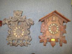 Two early 20th century German cuckoo clocks A/F Location: RWB