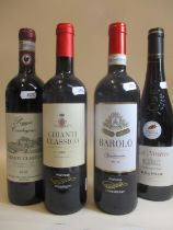 Four bottles to include Vendemmia Barolo 2012 and Chianti 2015