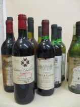 Twelve mixed bottles of wine to include Chateau Chanticlouette Pomerol 1994 Location: R2