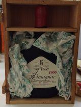 One wooden cased Armagnac 1900 Ferte de Partenay numbered bottle Location: 5