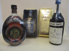 One cased bottle of Ballantines Special Reserve 12 Year Old Scotch Whisky, 70cl and one bottle of