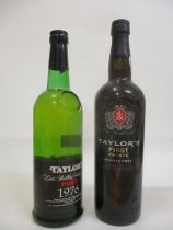 One bottle of Taylors Late Bottle Vintage 1976 and one bottle of Taylors First Estate Reserve Port