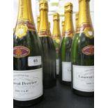 Twelve bottles of Laurent-Perrier Champagne