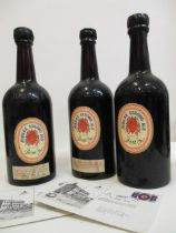Three bottles of Bass Jubilee Strong Ale dated July 15th 1977 to celebrate the Queen's Jubilee
