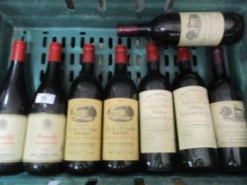Eight bottles of French wine to include Brouilly 1971 Domine Champier 1967, Chateau Beau-Rivage