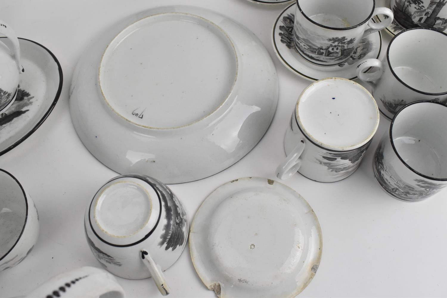 A George III period thirty eight piece New Hall tea and coffee service, circa 1805, pattern number - Image 11 of 11
