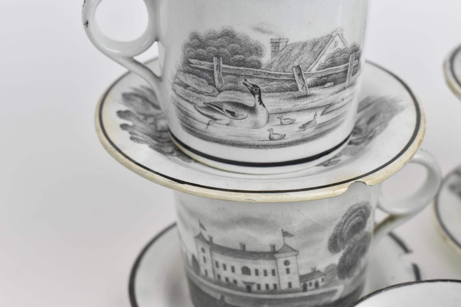 A George III period thirty eight piece New Hall tea and coffee service, circa 1805, pattern number - Image 9 of 11