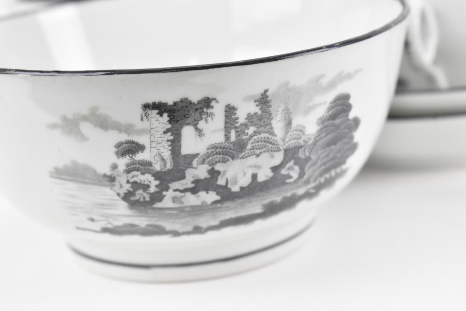 A George III period thirty eight piece New Hall tea and coffee service, circa 1805, pattern number - Image 6 of 11