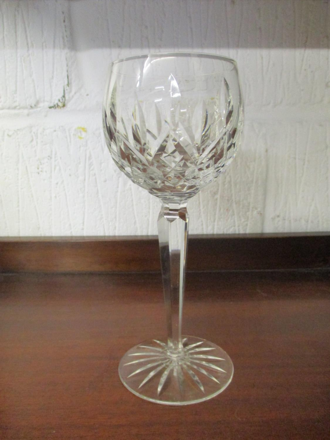 A quantity of table glass to include a Victorian and silver plated claret jug with engraved - Image 8 of 9