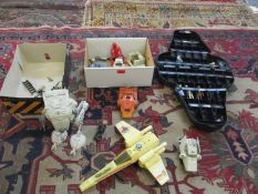 A collection of Star Wars figures, machinery and accessories to include a Kenner AT-ST Scout Walker,