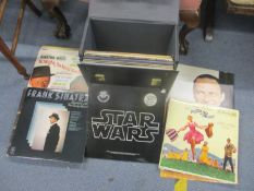 Mixed LP records to include the Original Star Wars soundtrack with poster