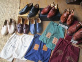 Seven pairs of gents leather shoes, sizes 6.5 and 7, to include a pair of Barker black Norfolk