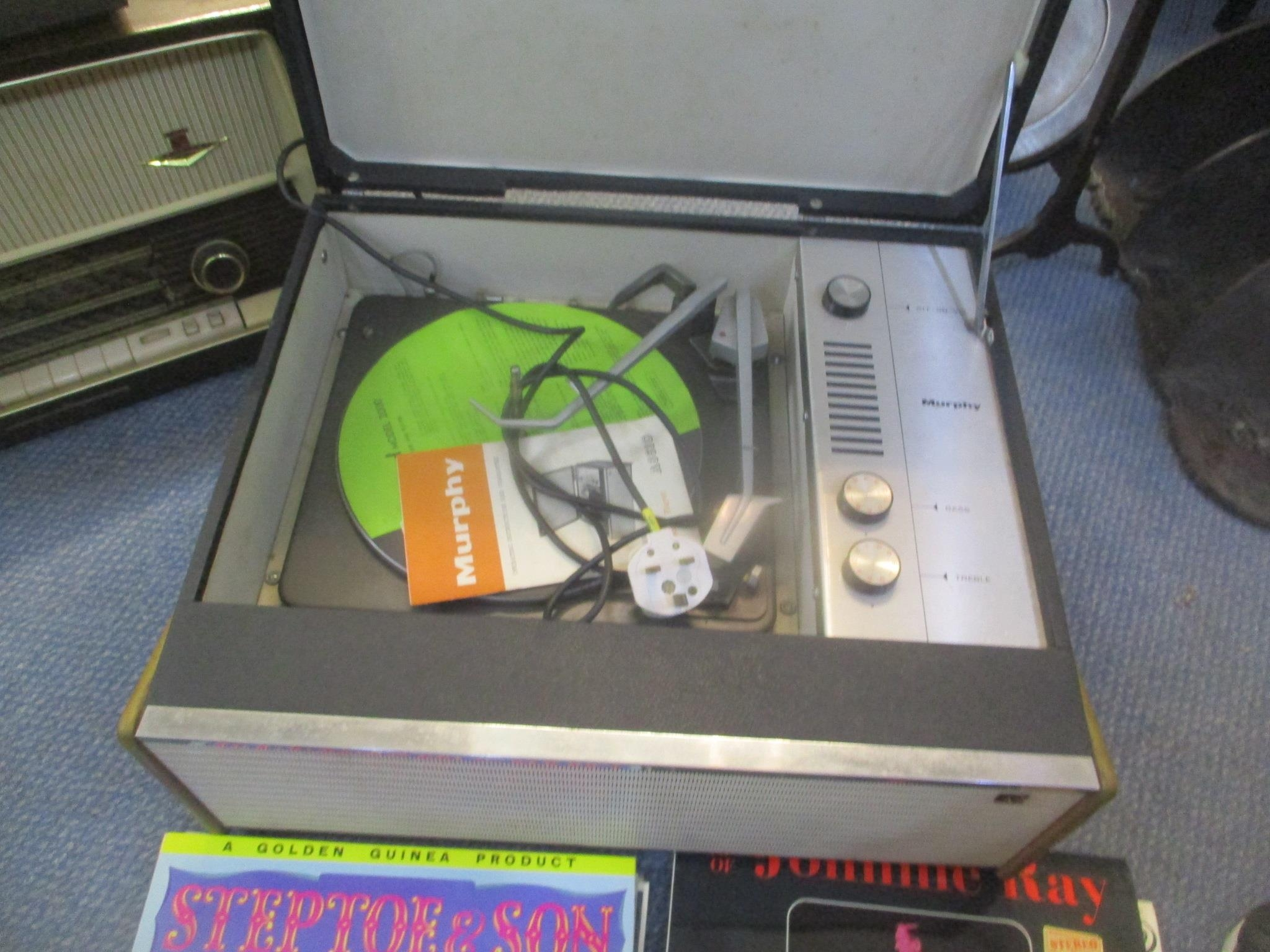 A Murphy record player together with mixed records to include Walt Disney's soundtrack collections - Image 2 of 2