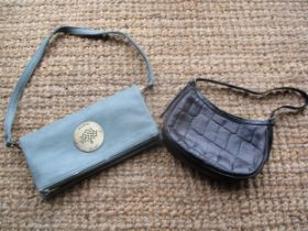 Two Mulberry occasional leather bags, one a small black leather shoulder bag with adjustable