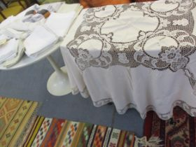 A quantity of mainly John Lewis table linen to include an un-opened Design Project tablecloth and