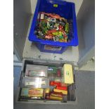 A quantity of vintage diecast model vehicles, some boxed to include a Corgi 007 James Bond Aston