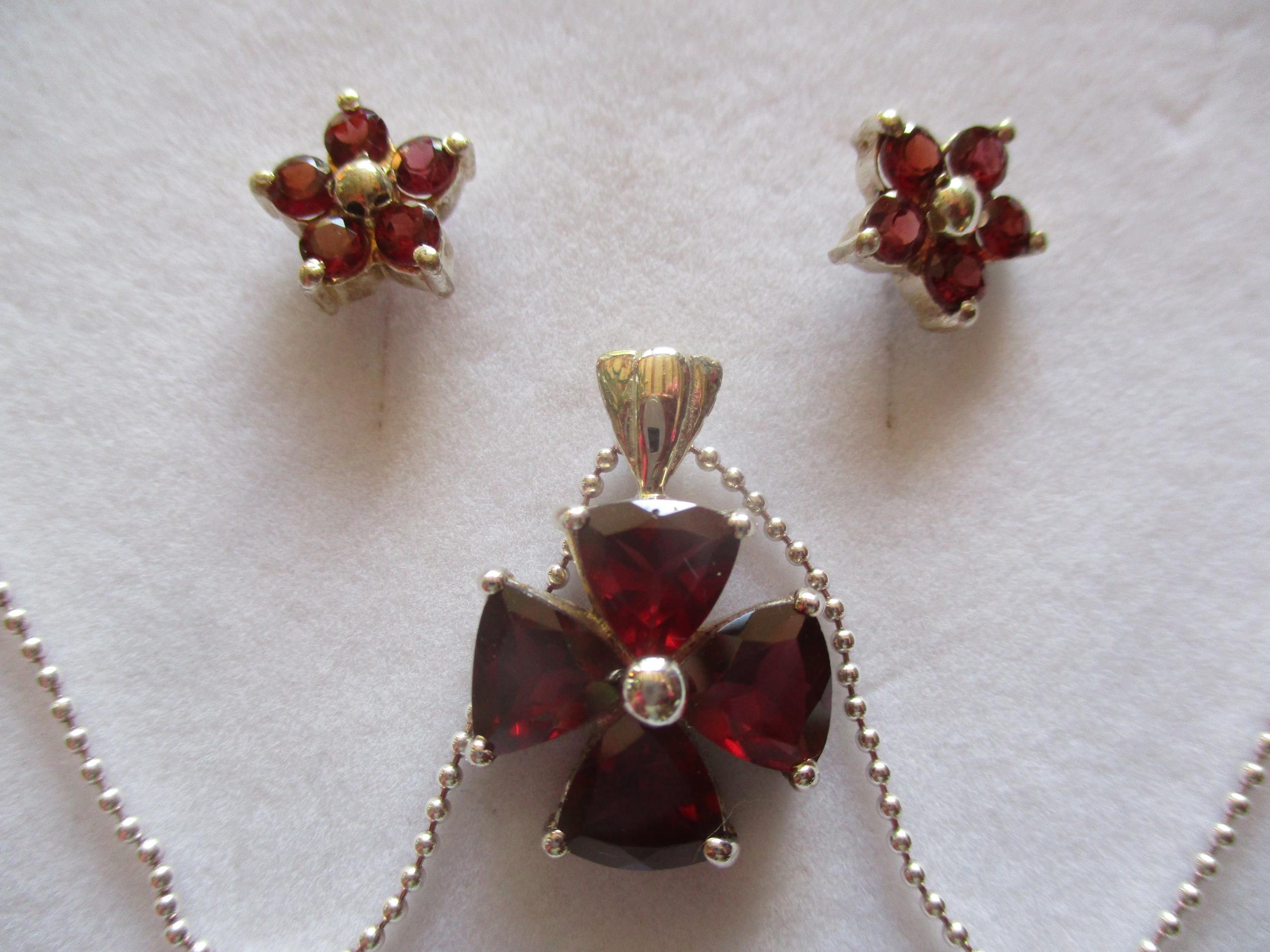 Mixed costume jewellery, mainly pendants on chains to include silver examples and a sterling - Image 6 of 8