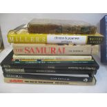 Mainly Samurai related hardback books along with Chinese rugs, Chinese and Japanese antiques and
