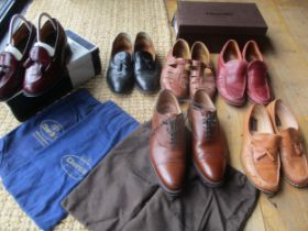 Two pairs of gents Church's shoes, one pair tobacco leather lace up shoes style 7482/47, size 70F (