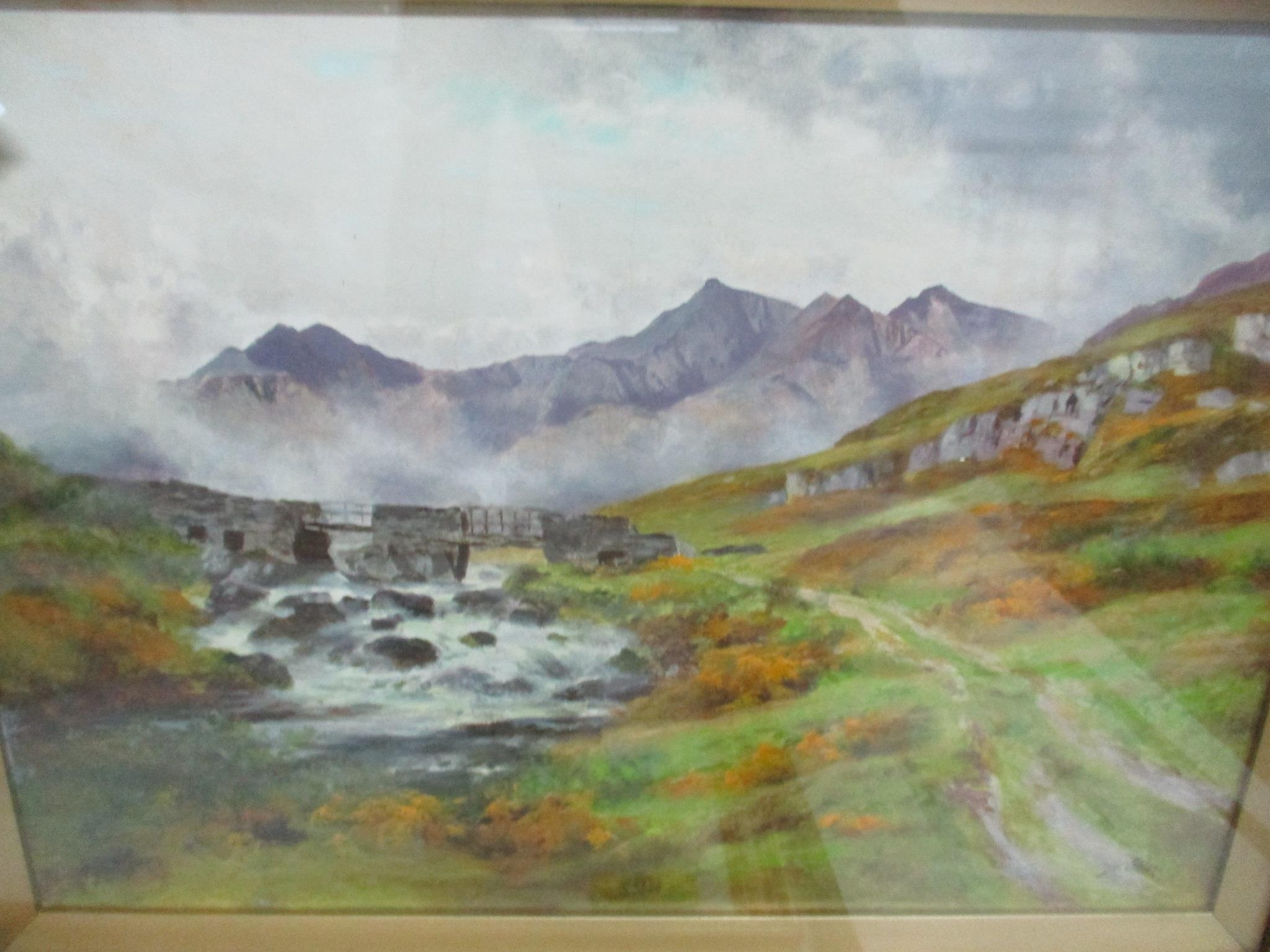 Group of watercolours and other pictures to include two watercolours by Jack Ray, a watercolour by - Image 4 of 7