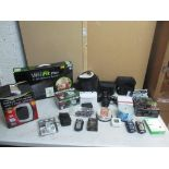 Mixed Nikon camera, other cameras, Wii games and other items