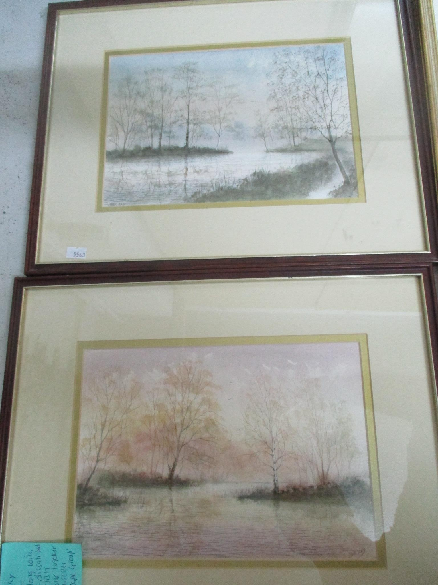 Group of watercolours and other pictures to include two watercolours by Jack Ray, a watercolour by - Image 5 of 7