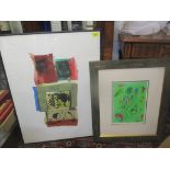 George Donald - 'Love Song' artist proof prints and after Marc Chagall print, framed and glazed
