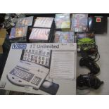 A mixed lot to include a Vtech I.T Unlimited Sega Mega Drive controllers and games and boxed