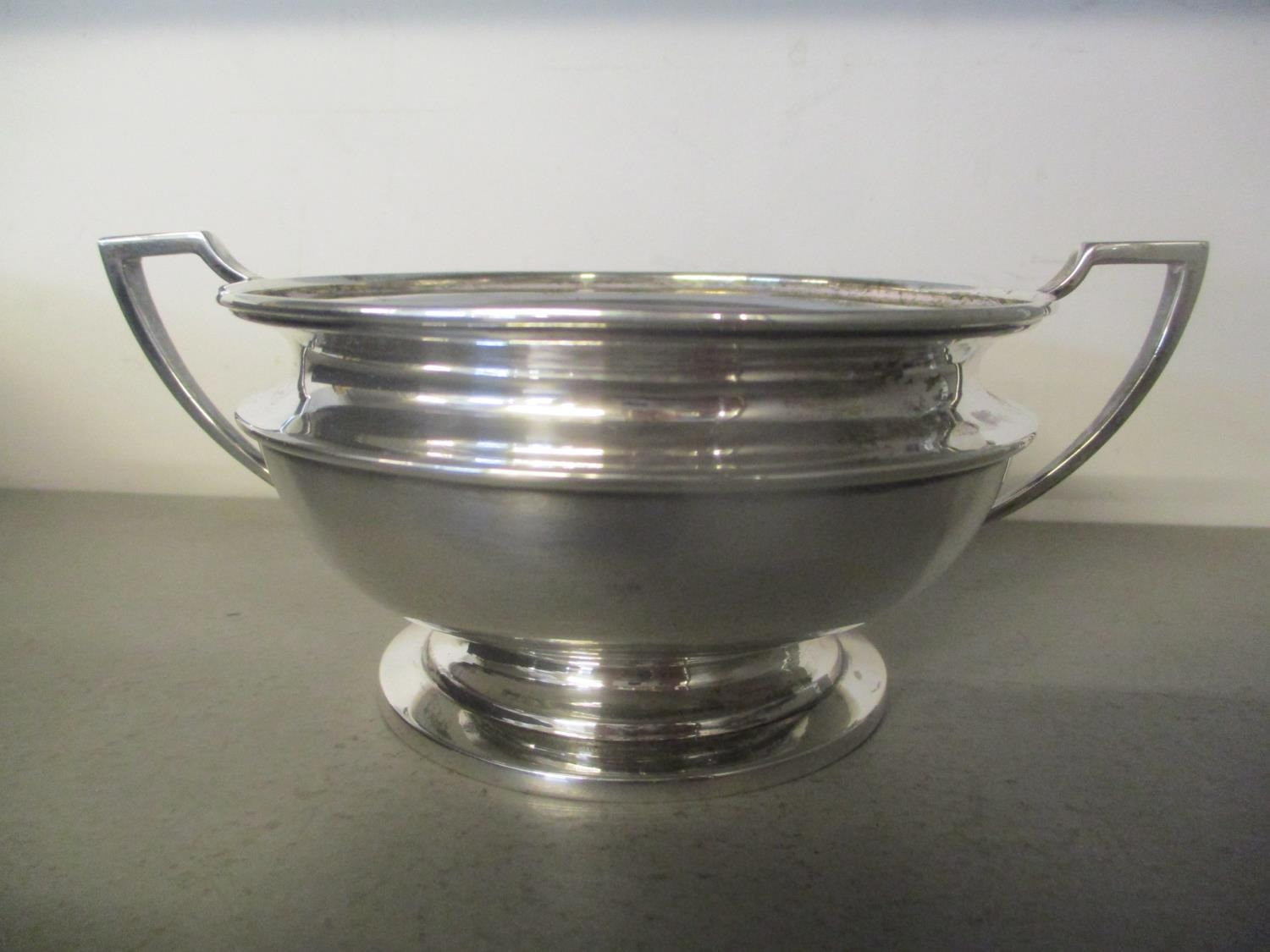 An Indian white metal cased twin handled sugar bowl 217g Location: BR - Image 2 of 2