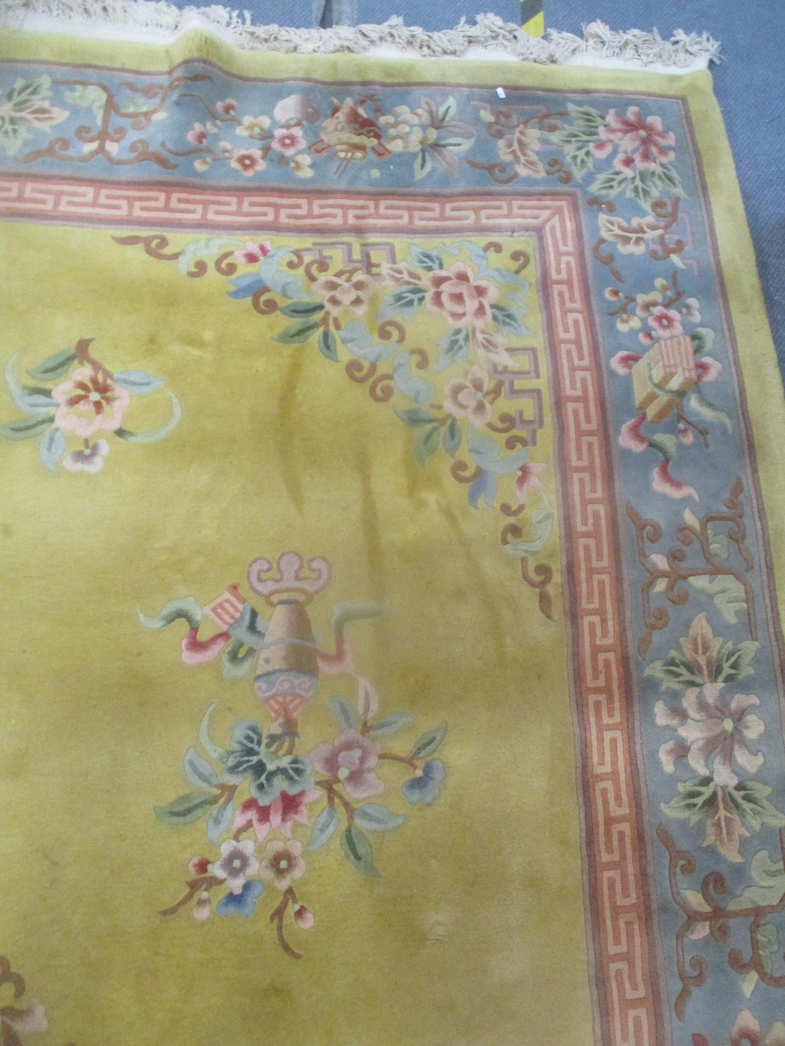 A good quality Chinese rug, bought at Harrods, traditional pattern, central dragon, floral motets - Image 4 of 5