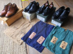 Four pairs of good quality gents leather shoes, size 7E, to include two pairs of Barker 'Nairn Cedar