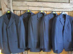"""Five gents Cerruti 1881 suits, 48/50 R European sizes, UK sizes approximately 40""""chest x 34""""waist,"""
