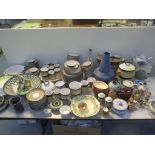 A Denby stoneware large dinner service in browns and white colours comprising approx 101 pieces,