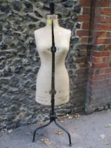 """A 1945 Chil-Daw Pioneer dressmakers mannequin No. 344739, British made, size 32-39"""" with"""