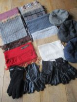 Gents mixed scarves to include Gant, Barbour, Frangi cashmere and evening silk tasselled scarves