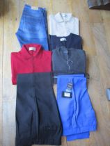 A small selection of gents good quality clothing to include two Burberry jumpers, a Pringle V-neck