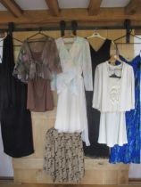 Late 20th century High Street and boutique ladies formal and evening attire to include a Berketex