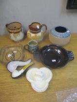 A mixed lot to include mixed Doulton including a 'Fish and Pond Weed' jug and other items