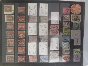 GB stamps - Queen Victoria up to 1887. Range from imperf/perf Reds - Surface printed to Jubilee