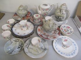 Ceramics to include Japanese teaware Imari plated and bowls, a Royal Stafford coffee set and other