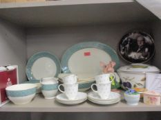 Susie Cooper coffee cans and saucers, a Ridgway Conway selection of tableware, a Royal Worcester