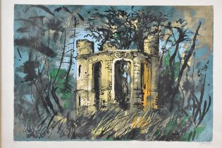 John Piper (1903-1992) Dinton Folly, limited edition lithograph, signed and numbered 25/100 in