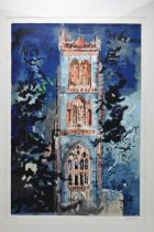 John Piper (1903-1992) Huish Episcopi, limited edition lithograph, signed and numbered 14/100 in