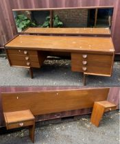 White & Newton of Portsmouth mid 20th century teak furniture comprising of a dressing table with