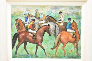 W Vulliamy, Race Horses, oil on board, signed lower right, 34 x 44cm