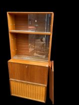 A Mid 20th century Poul Cadovius modular ?Cado? and ?Royal? shelving system consisting of two glazed