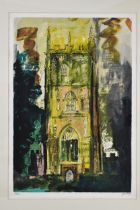 John Piper (1903-1992) Isle Abbots, limited edition lithograph, signed and numbered 68/100, in