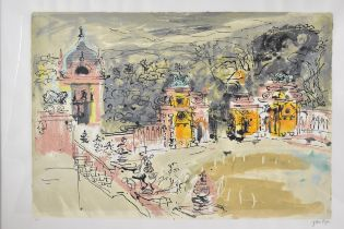 John Piper (1903-1992), Harlaxton Hall, limited edition lithograph, signed and numbered 21/90 in